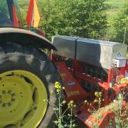 Maxi Meter frøsåmaskine monteret på KUHN HRB 252 rotorharve